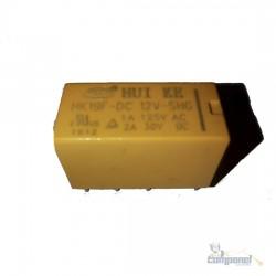 Relé 12V 8 terminais Miniatura Sensível - 2 Contatos Reversíveis 1A - 2A